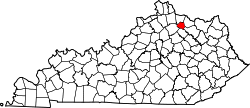 Kentucky Map showing Robertson County