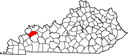 Kentucky Map showing Webster County