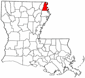 Louisiana Map showing East Carroll County