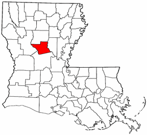 Louisiana Map showing Grant County