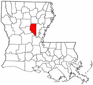 Louisiana Map showing La Salle County