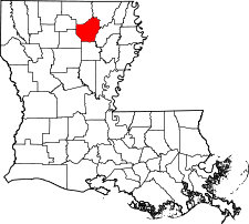 Louisiana Map showing Ouachita County