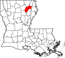 Louisiana Map showing Richland County