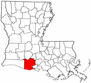 Louisiana Map showing Vermilion County