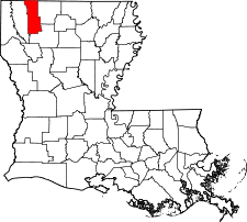 Louisiana Map showing Webster County