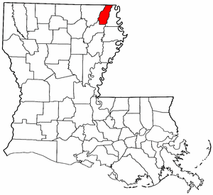 Louisiana Map showing West Carroll County