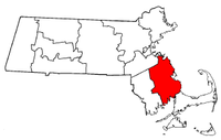 Massachusetts Map showing Plymouth County