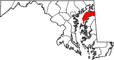 Maryland Map showing Kent County