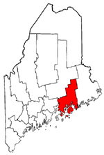 Maine Map showing Hancock County