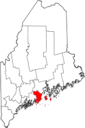 Maine Map showing Knox County