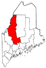 Maine Map showing Somerset County