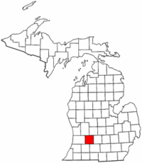 Michigan Map showing Barry County