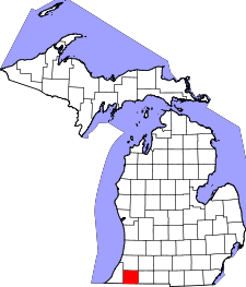 Michigan Map showing Cass County