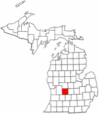 Michigan Map showing Ionia County
