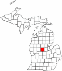 Michigan Map showing Isabella County