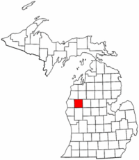 Michigan Map showing Lake County