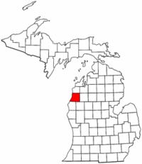 Michigan Map showing Manistee County