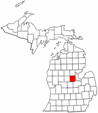 Michigan Map showing Midland County