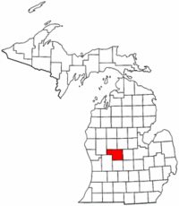 Michigan Map showing Montcalm County