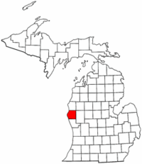 Michigan Map showing Oceana County