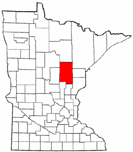 Minnesota Map showing Aitkin County