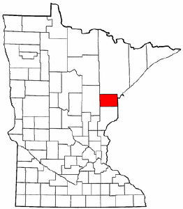 Minnesota Map showing Carlton County