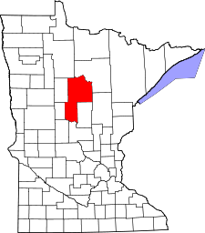 Minnesota Map showing Cass County