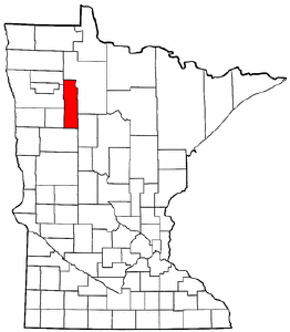 Minnesota Map showing Clearwater County