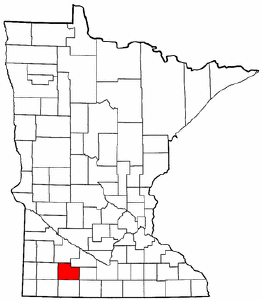 Minnesota Map showing Cottonwood County