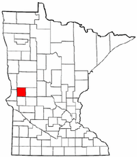 Minnesota Map showing Grant County
