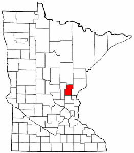 Minnesota Map showing Kanabec County