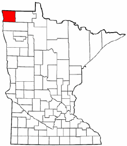 Minnesota Map showing Kittson County