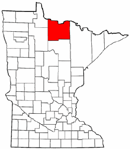 Minnesota Map showing Koochiching County