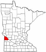 Minnesota Map showing Lac Qui Parle County