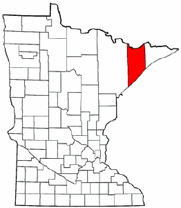 Minnesota Map showing Lake County