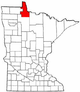 Minnesota Map showing Lake of the Woods County