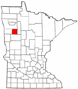 Minnesota Map showing Mahnomen County