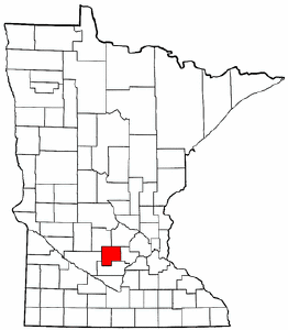 Minnesota Map showing McLeod County