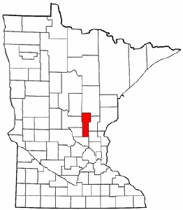 Minnesota Map showing Mille Lacs County