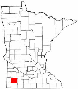 Minnesota Map showing Murray County