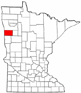 Minnesota Map showing Norman County