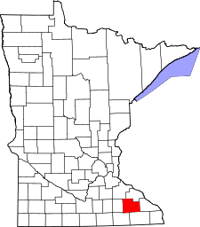 Minnesota Map showing Olmsted County