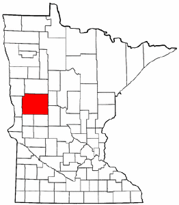 Minnesota Map showing Otter Tail County