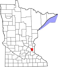 Minnesota Map showing Ramsey County