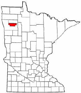 Minnesota Map showing Red Lake County