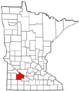 Minnesota Map showing Redwood County