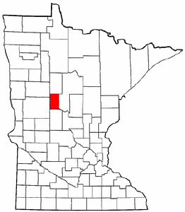 Minnesota Map showing Wadena County