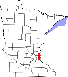 Minnesota Map showing Washington County