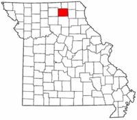 Missouri Map showing Adair County