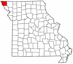 Missouri Map showing Atchison County
